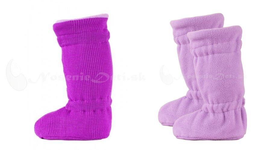 Manymonths Winter merino Violet Lotus fialové vysoké capačky pre deti 7d367249be4