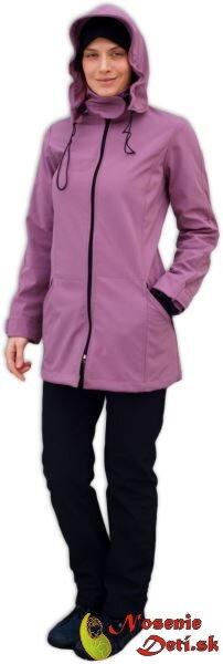 Softshellová bunda na nosenie detí   tehotenská Stella2 Ružovofialová 486a4f43388