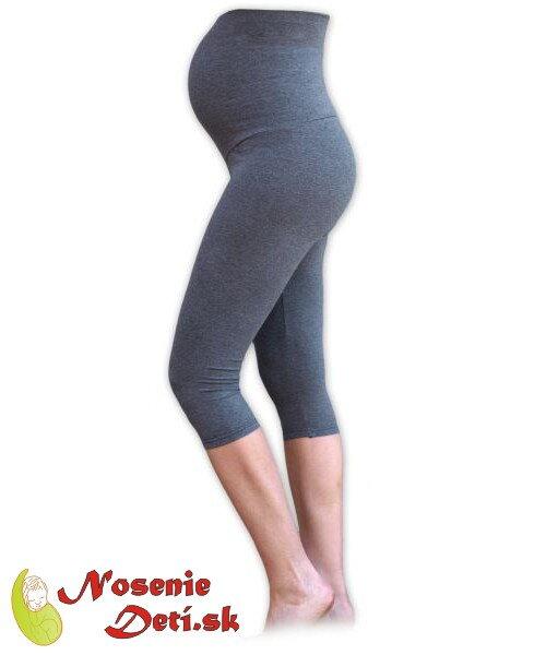... Tehotenské legíny na leto šedý melír - nepresvitajú 01aa97c797
