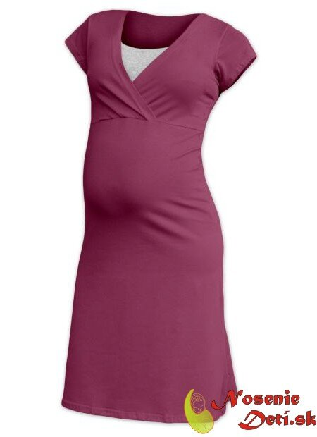 cd2d2630acb5 Tehotenská nočná košeľa Eva Tehotenská nočná košeľa na kojenie Eva  Cyklámenová