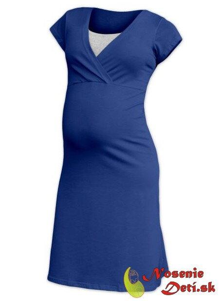 2725fc87fbd0 Tehotenská nočná košeľa na kojenie krátky rukáv Eva Jeans