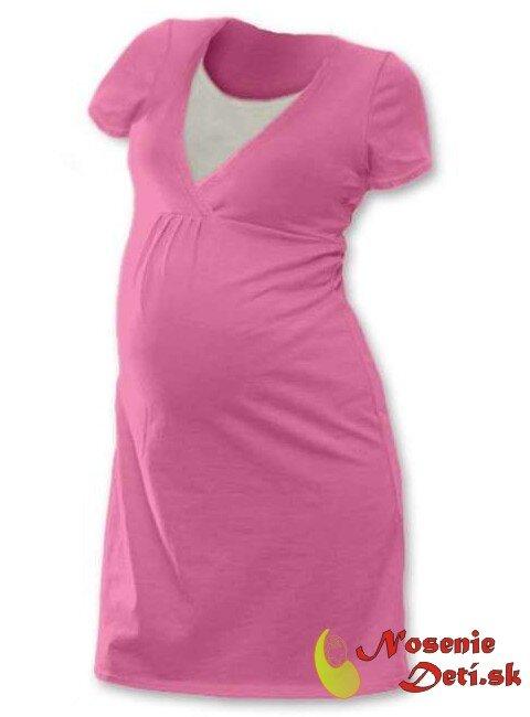 d1a26813d331 ... Tehotenská nočná košeľa Lucia aj na dojčenie Svetloružová