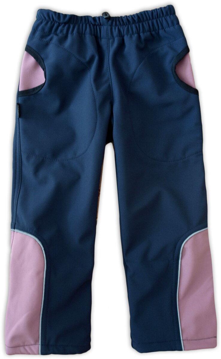 27282fb98145 Softshellové nohavice detské Tmavomodrá Ružová
