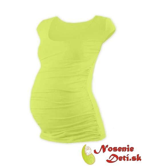 4b657e3e8190 Tehotenské tričko Svetlozelené s mini rukávmi Tehotenské tričko Svetlozelené