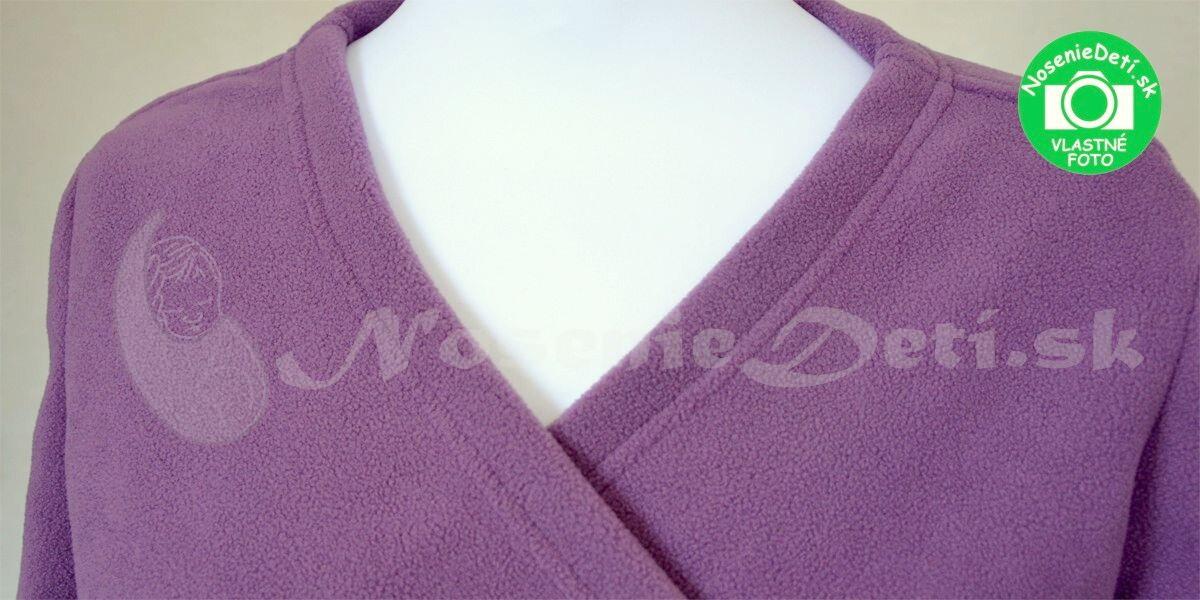 Jožánek tehotenský a nosiaci zavinovací kabátik sveter Zina Fialový 12378b4ed41