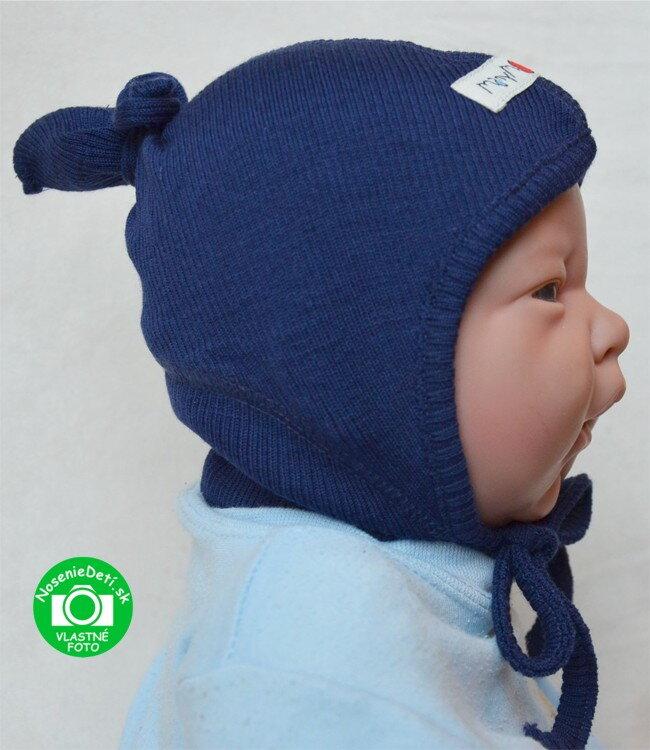 40fe104f8 Merino dojčenská zaväzovacia čiapka Merino dojčenská zaväzovacia čiapka