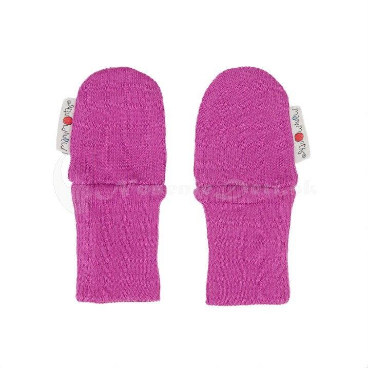 Detské rukavice merino bez palca Manymonths Violet Lotus 33fade5ac88