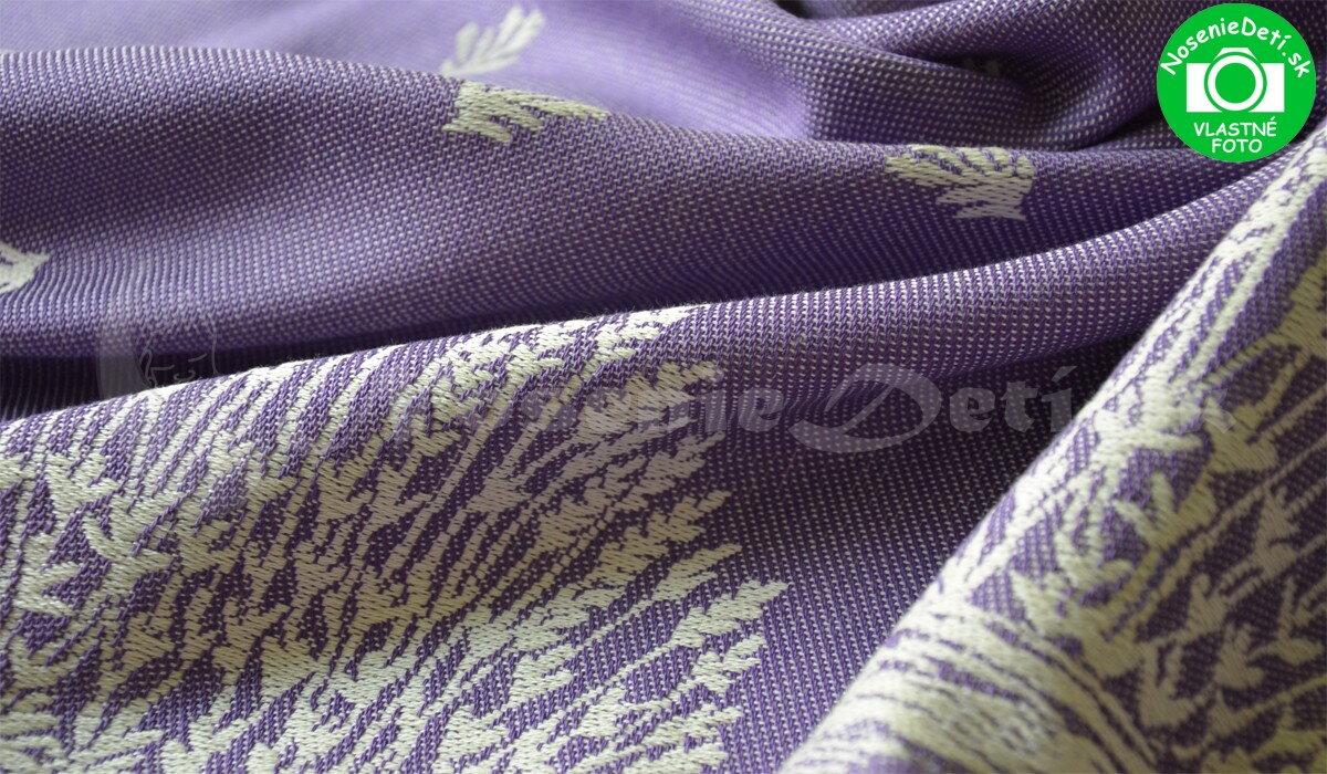 Šatka na nosenie detí Šanami žakár Levanduľa fialová aa5987d24dc