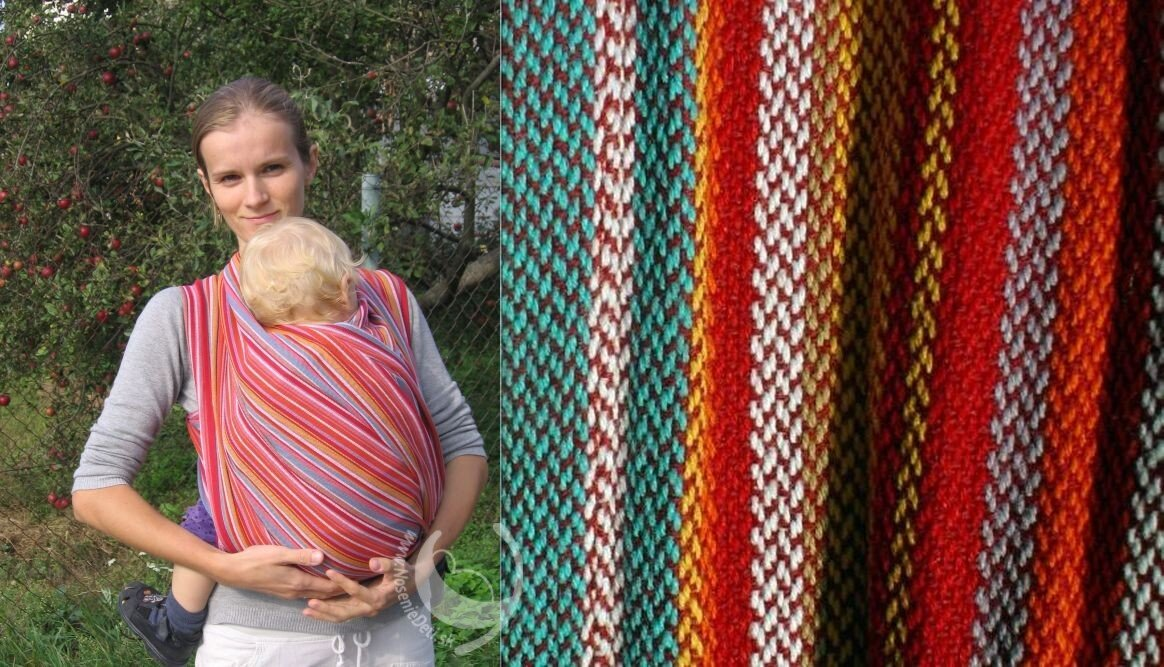 Šatka na nosenie detí Storchenwiege Lilly 17e64c24c5