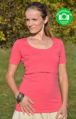 f37fc8610241 Tričko na dojčenie krátky rukáv Katarína Ružové