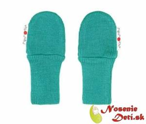 69ec41621c446 Detské rukavice merino bez palca Manymonths Royal Turquoise