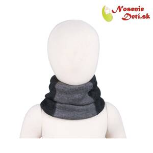 Merino nákrčník Manymonths multitube KID Foggy Black
