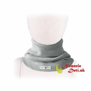 Merino nákrčník Manymonths multitube KID Silver Cloud