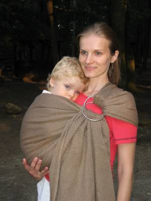 Ring Sling Storchenwiege - Leo caffe